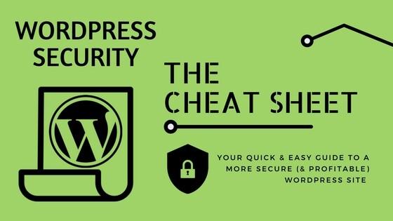 WordPress Security Cheat Sheet image