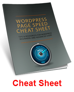 WordPress Page Speed Cheat Sheet